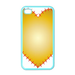 Heart Rhythm Gold Red Apple Iphone 4 Case (color) by Mariart