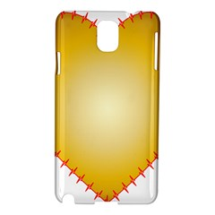 Heart Rhythm Gold Red Samsung Galaxy Note 3 N9005 Hardshell Case by Mariart