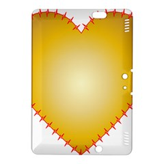 Heart Rhythm Gold Red Kindle Fire Hdx 8 9  Hardshell Case by Mariart