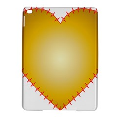 Heart Rhythm Gold Red Ipad Air 2 Hardshell Cases by Mariart