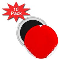Heart Rhythm Inner Red 1 75  Magnets (10 Pack)  by Mariart