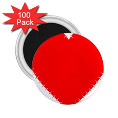 Heart Rhythm Inner Red 2 25  Magnets (100 Pack)  by Mariart