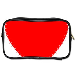 Heart Rhythm Inner Red Toiletries Bags by Mariart