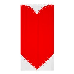 Heart Rhythm Inner Red Shower Curtain 36  X 72  (stall)  by Mariart
