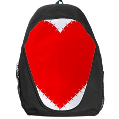 Heart Rhythm Inner Red Backpack Bag by Mariart