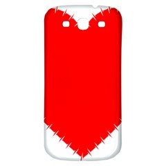 Heart Rhythm Inner Red Samsung Galaxy S3 S Iii Classic Hardshell Back Case by Mariart