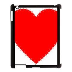 Heart Rhythm Inner Red Apple iPad 3/4 Case (Black)