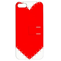 Heart Rhythm Inner Red Apple Iphone 5 Hardshell Case With Stand by Mariart