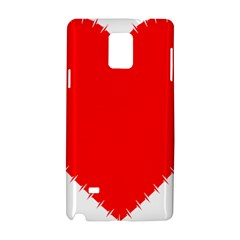 Heart Rhythm Inner Red Samsung Galaxy Note 4 Hardshell Case by Mariart