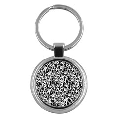 Deskjet Ink Splatter Black Spot Key Chains (round)  by Mariart