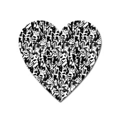 Deskjet Ink Splatter Black Spot Heart Magnet by Mariart