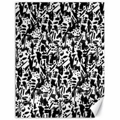 Deskjet Ink Splatter Black Spot Canvas 18  X 24   by Mariart
