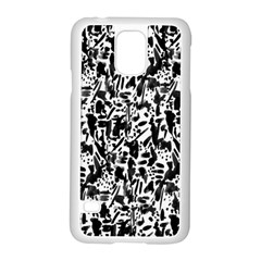 Deskjet Ink Splatter Black Spot Samsung Galaxy S5 Case (white) by Mariart