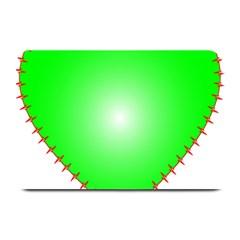Heart Rhythm Inner Green Red Plate Mats