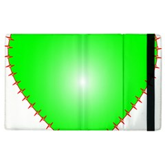 Heart Rhythm Inner Green Red Apple Ipad 2 Flip Case by Mariart