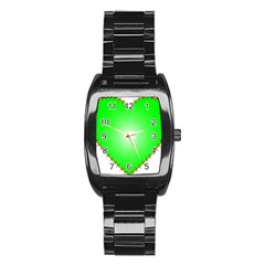 Heart Rhythm Inner Green Red Stainless Steel Barrel Watch by Mariart