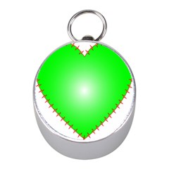 Heart Rhythm Inner Green Red Mini Silver Compasses by Mariart