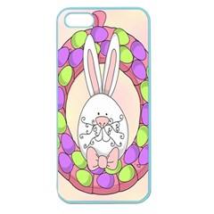 Make An Easter Egg Wreath Rabbit Face Cute Pink White Apple Seamless iPhone 5 Case (Color)