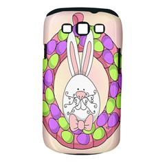 Make An Easter Egg Wreath Rabbit Face Cute Pink White Samsung Galaxy S Iii Classic Hardshell Case (pc+silicone) by Mariart