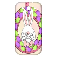 Make An Easter Egg Wreath Rabbit Face Cute Pink White Samsung Galaxy S3 S Iii Classic Hardshell Back Case by Mariart