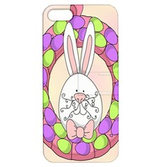 Make An Easter Egg Wreath Rabbit Face Cute Pink White Apple Iphone 5 Hardshell Case With Stand by Mariart