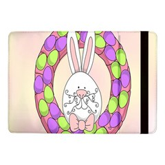 Make An Easter Egg Wreath Rabbit Face Cute Pink White Samsung Galaxy Tab Pro 10 1  Flip Case by Mariart