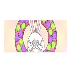 Make An Easter Egg Wreath Rabbit Face Cute Pink White Satin Wrap by Mariart