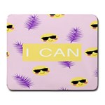 I Can Purple Face Smile Mask Tree Yellow Large Mousepads Front