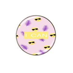 I Can Purple Face Smile Mask Tree Yellow Hat Clip Ball Marker (4 Pack)
