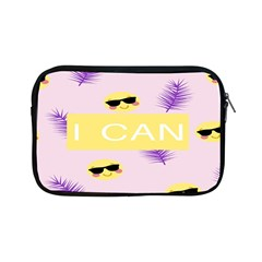 I Can Purple Face Smile Mask Tree Yellow Apple Ipad Mini Zipper Cases by Mariart