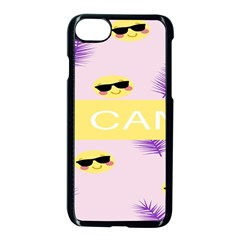 I Can Purple Face Smile Mask Tree Yellow Apple Iphone 7 Seamless Case (black) by Mariart