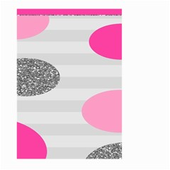 Polkadot Circle Round Line Red Pink Grey Diamond Large Garden Flag (two Sides) by Mariart