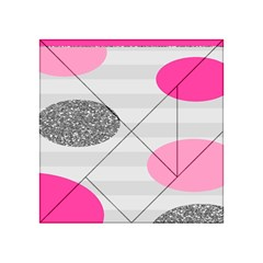 Polkadot Circle Round Line Red Pink Grey Diamond Acrylic Tangram Puzzle (4  X 4 ) by Mariart