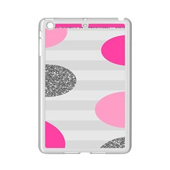 Polkadot Circle Round Line Red Pink Grey Diamond Ipad Mini 2 Enamel Coated Cases by Mariart