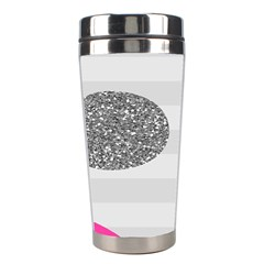 Polkadot Circle Round Line Red Pink Grey Diamond Stainless Steel Travel Tumblers by Mariart