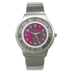 Pink Black Handcuffs Key Iron Love Grey Mask Sexy Stainless Steel Watch by Mariart