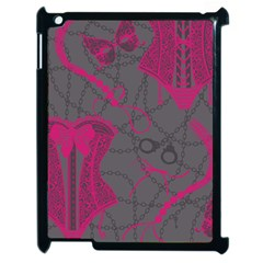 Pink Black Handcuffs Key Iron Love Grey Mask Sexy Apple Ipad 2 Case (black) by Mariart
