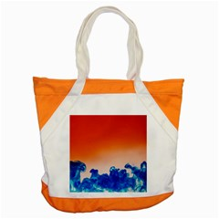 Simulate Weather Fronts Smoke Blue Orange Accent Tote Bag by Mariart