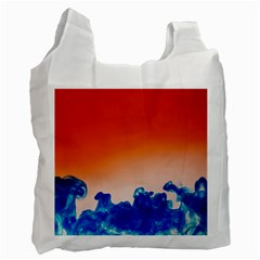 Simulate Weather Fronts Smoke Blue Orange Recycle Bag (one Side) by Mariart