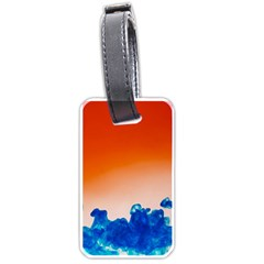 Simulate Weather Fronts Smoke Blue Orange Luggage Tags (one Side)  by Mariart