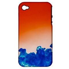 Simulate Weather Fronts Smoke Blue Orange Apple Iphone 4/4s Hardshell Case (pc+silicone) by Mariart