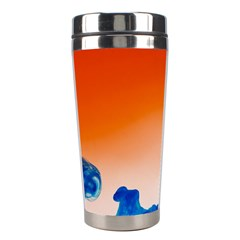 Simulate Weather Fronts Smoke Blue Orange Stainless Steel Travel Tumblers by Mariart