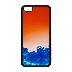 Simulate Weather Fronts Smoke Blue Orange Apple Iphone 5c Seamless Case (black) by Mariart