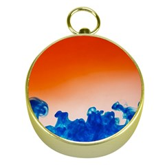 Simulate Weather Fronts Smoke Blue Orange Gold Compasses by Mariart