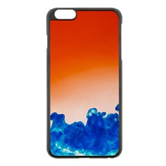 Simulate Weather Fronts Smoke Blue Orange Apple Iphone 6 Plus/6s Plus Black Enamel Case by Mariart