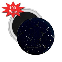 Star Zodiak Space Circle Sky Line Light Blue Yellow 2 25  Magnets (100 Pack)  by Mariart