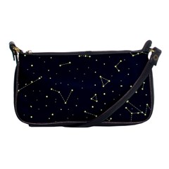 Star Zodiak Space Circle Sky Line Light Blue Yellow Shoulder Clutch Bags by Mariart
