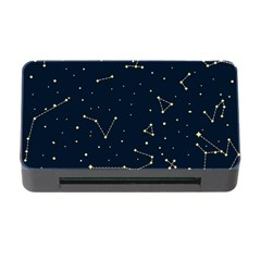 Star Zodiak Space Circle Sky Line Light Blue Yellow Memory Card Reader With Cf by Mariart
