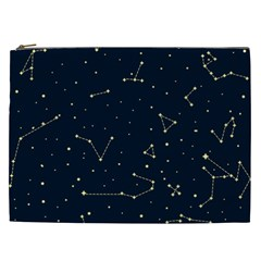 Star Zodiak Space Circle Sky Line Light Blue Yellow Cosmetic Bag (xxl)  by Mariart