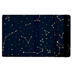 Star Zodiak Space Circle Sky Line Light Blue Yellow Apple Ipad 2 Flip Case by Mariart